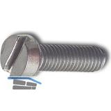 ~ISO1207 M 1.6x16 Edelstahl A2  Zylinderschraube mit Schlitz (DIN 84A)
