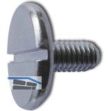 DIN 921 M 5x 20 Stahl verchromt Flachkopfschraube mit Schlitz und grossem Kopf