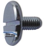 DIN 921 M 3x  5 verzinkt Flachkopfschraube mit Schlitz und grossem Kopf