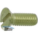 ~ISO2009 M 4x 10 Messing blank Senkschraube mit Schlitz (DIN 963A)