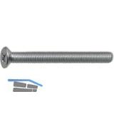 ~ISO7046-1 4.8 M 2.5x 5 Phillips Kreuzschlitz verzinkt Senkschraube (DIN 965A)