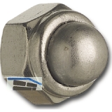 DIN 986 M 5 Edelstahl A2 Sicherungs-Hutmutter mit Klemmteil