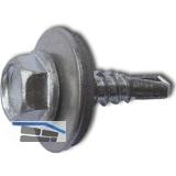 DIN7504K 4.8x 19 verzinkt Sechskantbohrschraube mit Scheibe ø 16 mm