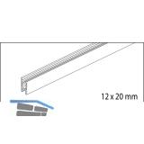 EKU CLIPO 16 GPK/GPPK Glasfixierungsprofil, Länge 2500, Aluminium eloxiert