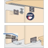 EKU CLIPO 26 H MS Beschlägegarnitur, 2 Türen