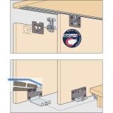 EKU CLIPO 36 H MS Beschlägegarnitur, 2 Türen
