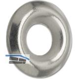 Fassonscheibe 3.9x10 Eisen vernickelt für Senkschrauben