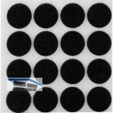 Filzgleiter rund, ø22, Materialstärke 3 mm, selbstklebend, braun, Inhalt 16