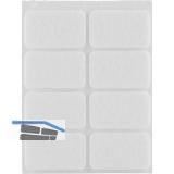 Filzgleiter rechteck, 36x22, Materialstärke 3 mm, selbstklebend, weiß, Inhalt 8