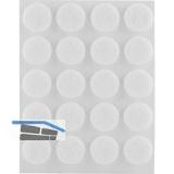 Filzgleiter rund, ø17,Materialstärke 3 mm, selbstklebend, weiß, Inhalt 20 ST
