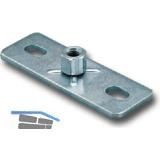 FISCHER GPL  M 8 Grundplatte verzinkt-blau mit Langlöcher