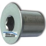 Hülsenmutter Senkkopf M 4x 12 Edelstahl 1.4305 mit Innensechskant