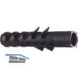 Industriedübel Nylon F 6 schwarz in Beutel