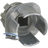 JuNie 7614 Vierkantnuss ASS Schließeinsatz, 7 mm Vierkantnuss, Zink roh