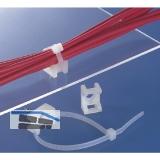 Befestigungssockel für Kabelbinder 6 mm zum Schrauben und Nieten