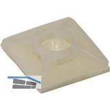 Klebesockel für Kabelbinder 3.6 mm mit Sonderkleber aus Acrylat