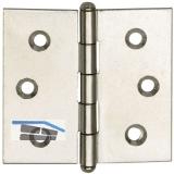 Knopfscharnier - leichte Ausführung 25x25x1 mm, Stahl glanzvern.