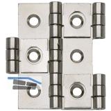 Paravantscharnier 50x21 mm, Holzstärke 15 mm, Messing nickel matt