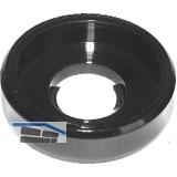 Rosette 90° M 6 Polyamid schwarz für Zylinderkopfschraube
