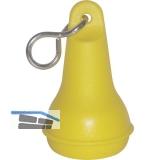 Hotelschlüsselanhänger - birnenförmig gelb