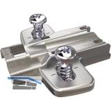 HETTICH Anschraub - Kreuzmontageplatte - mit Systemschr. 9071625, Distanz 0