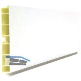 Sockelblendenprofil Kunststoff H:100mm; L: 4000mm; weiß hochglanz foliert
