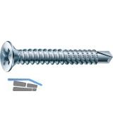 SPAX-FEX A Fensterbohrschraube 3.9x 13 PH 2 Stahl silber für Kunststoffprofile