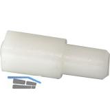 Steckbodenträger KU, Bohr ø 5 mm, Kunststoff weiß, VPE 100 ST