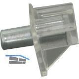 Steckbodenträger Safety, Bohr ø 3 mm, Kunststoff glasklar, VPE 100 ST