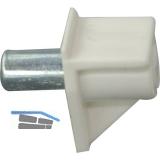Steckbodenträger Safety, Bohr ø 5 mm, Kunststoff weiß, VPE 100 ST