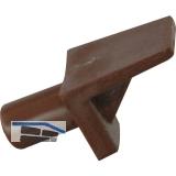 Steckbodenträger Winkel 2, Bohr ø 5 mm, Kunststoff braun, VPE 100 ST