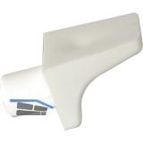 Steckbodenträger Winkel 2, Bohr ø 6 mm, Kunststoff weiß, VPE 100 ST