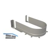 syphon flex - flexibles KSprofil zu Spülenlade, grau, Bodenstärke 16mm