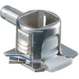 Steckbodenträger Unico, Bohr ø 5 mm,Zinkdruckguss vernickelt/KS