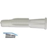 TOX-TRIKA Allzweckdübel  6x 36 mit Kappe Kunststoff weiß