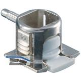 Steckbodenträger Unico, Bohr ø 3 mm,Zinkdruckguss vernickelt/KS