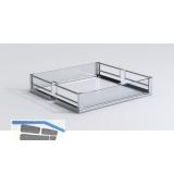 VAUTH-SAGEL HSA PREMEA Artline Korb KB300, chrom / MDF weiß / Glas klar