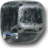 KWS Hutmutter eckige Form - 10 x 12mm, M 8, Schmiedeeisen schwarz