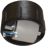 Roller-Mini BSR soft ohne Bund, Rollen ø 15 mm, Bohr ø 25 mm, Kunststoff schwarz