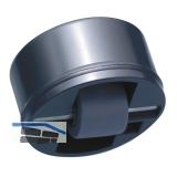 Roller-Mini soft, Rollen ø 15 mm, Bohr ø 36 mm, Kunststoff schwarz