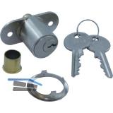 JuNie 2960 Zylinder-Druckschloss Sperre BN 0101, Zylinder Messing vern. matt