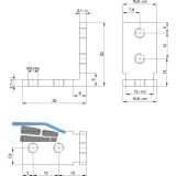 Eckverbinder Aluminium roh
