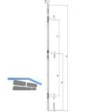 Schließleiste B001 \Q\  zu AS 2600 Syst. 13mm, rechts,verzinkt silber