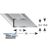 Gleitabschlussprofil U Alu silber eloxiert 8/2700 mm