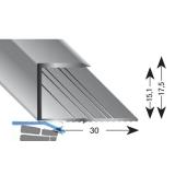 Gleitabschlussprofil U Alu silber eloxiert 15/2700 mm