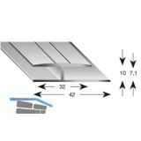 Gleitabschlussprofil H Alu silber eloxiert 7/2700 mm
