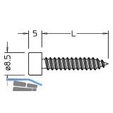 Blechtreibschrauben ohne Dichtstück, 5,5  x 22 mm, Edelstahl
