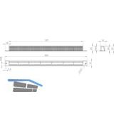 Wetterschutzgitter FRESH 10 außen, Kunststoff RAL 9010