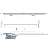 MACO SKB-S/SE/Z/PAS Profil-Set Gr.1, FFB  620-900 mm, L=1930 mm, silber