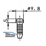 Gleitstopfen BKS für Treibriegelstange, Kunststoff